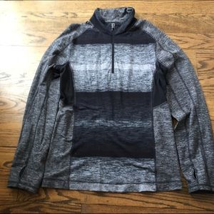 Lululemon quarter zip gray and black size small